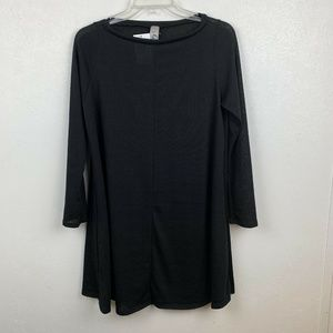 Go Couture Swing Dress M Black Long Sleeve Tunic